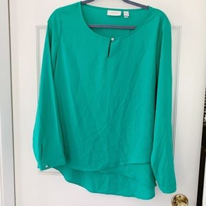 Chico's Green Blouse